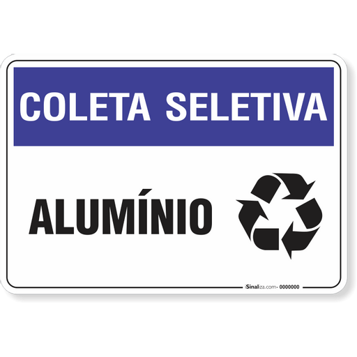 e48eead1d5e01 PLACA COLETA SELETIVA - ALUMÍNIO - isinaliza