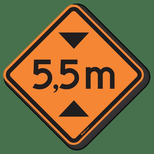 3716-placa-altura-limitada-5.5-metros-a-37-obra-aluminio-acm-50x50cm-1