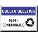 1488-placa-coleta-seletiva-papel-contaminado-pvc-semi-rigido-26x18cm-furos-6mm-parafusos-nao-incluidos-1