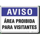 1259-placa-aviso-area-proibida-para-visitantes-pvc-semi-rigido-26x18cm-furos-6mm-parafusos-nao-incluidos-1