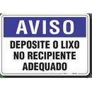 1912-placa-aviso-deposite-o-lixo-no-recipiente-adequado-pvc-semi-rigido-26x18cm-furos-6mm-parafusos-nao-incluidos-1
