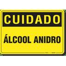 1320-placa-cuidado-alcool-anidro-pvc-semi-rigido-26x18cm-furos-6mm-parafusos-nao-incluidos-1
