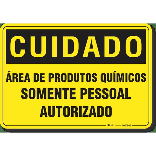 1326-placa-cuidado-area-de-produtos-quimicos-somente-pessoal-autorizado-pvc-2mm-26x18cm-furos-6mm-parafusos-nao-incluidos-1