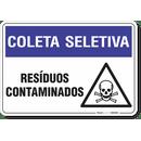 1499-placa-coleta-seletiva-residuos-contaminados-pvc-semi-rigido-26x18cm-furos-6mm-parafusos-nao-incluidos-1