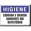 1545-placa-higiene-comida-e-bebida-somente-no-refeitorio-pvc-semi-rigido-26x18cm-furos-6mm-parafusos-nao-incluidos-1