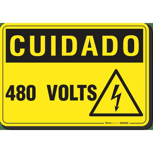 2714-placa-cuidado-480-volts-pvc-semi-rigido-26x18cm-furos-6mm-parafusos-nao-incluidos-1
