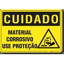 2892-placa-cuidado-material-corrosivo-use-protecao-pvc-semi-rigido-26x18cm-furos-6mm-parafusos-nao-incluidos-1