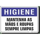 1637-placa-higiene-mantenha-as-maos-e-roupas-sempre-limpas-pvc-semi-rigido-26x18cm-furos-6mm-parafusos-nao-incluidos-1