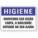 1651-placa-higiene-mantenha-sua-secao-limpa-a-qualidade-depende-da-sua-ajuda-pvc-semi-rigido-26x18cm-furos-6mm-parafusos-nao-incluidos-1