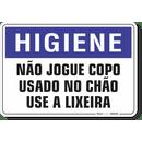 1654-placa-higiene-nao-jogue-copo-usado-no-chao-use-a-lixeira-pvc-semi-rigido-26x18cm-furos-6mm-parafusos-nao-incluidos-1