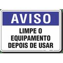 2000-placa-aviso-limpe-o-equipamento-antes-de-usar-pvc-semi-rigido-26x18cm-furos-6mm-parafusos-nao-incluidos-1