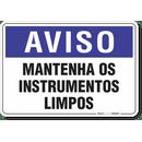 2019-placa-aviso-mantenha-os-instrumentos-limpos-pvc-semi-rigido-26x18cm-furos-6mm-parafusos-nao-incluidos-1