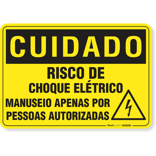 3013-placa-cuidado-risco-de-choque-eletrico-manuseio-apenas-por-pessoas-autorizadas-pvc-semi-rigido-26x18cm-furos-6mm-parafusos-nao-incluidos-1