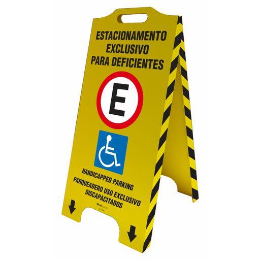 4454-cavalete-de-sinalizacao-trilingue-estacionamento-exclusivo-para-deficientes-58x28cm-1