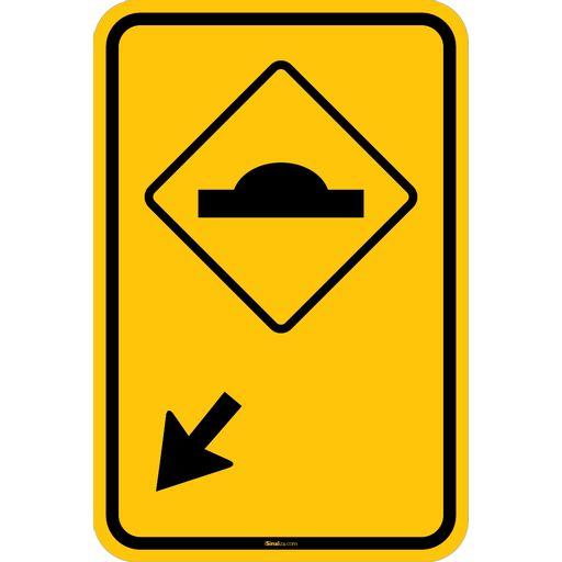 Placa-Advertencia---Lombada-a-Esquerda