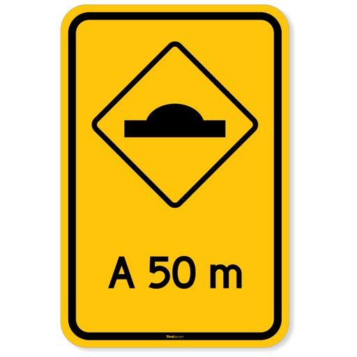 Placa-Advertencia---Lombada-a-50m