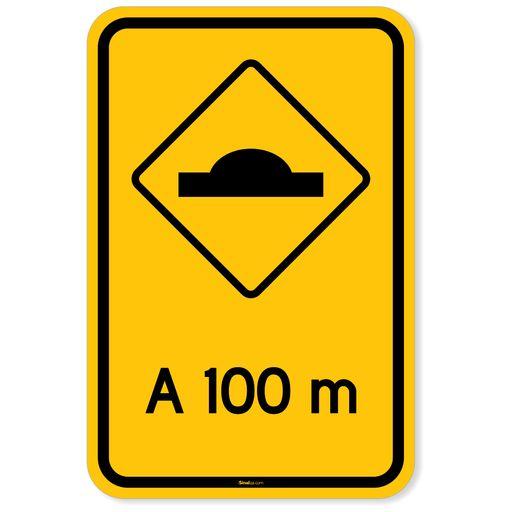 Placa-Advertencia---Lombada-a-100m