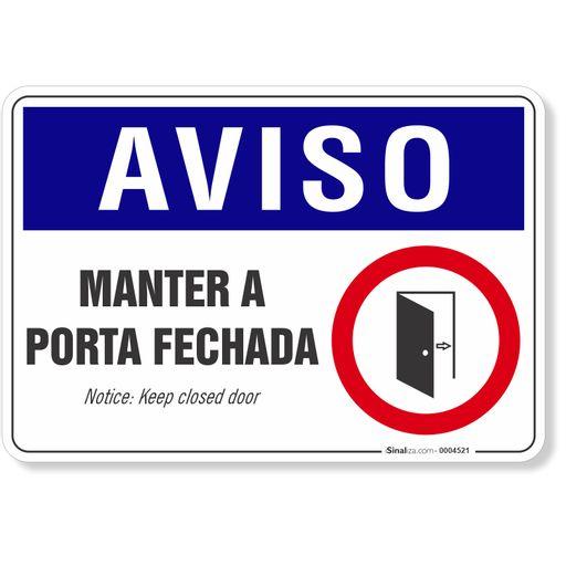 PLACA-AVISO-MANTER-A-PORTA-FECHADA