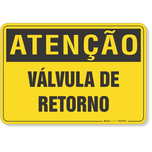 PLACA-ATENCAO-VALVULA-DE-RETORNO